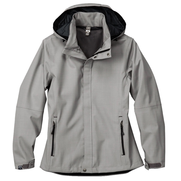 Women's commuter rain jacket for outdoor activities