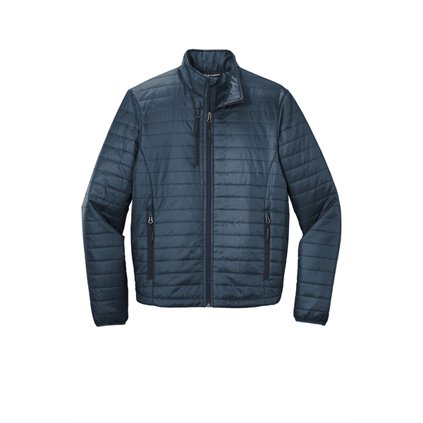 Packable puffer outwear jacket