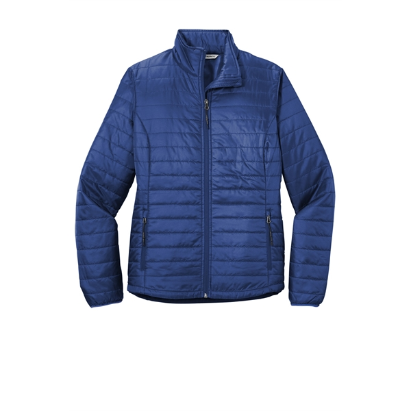 Women's packable puffer outwear jacket