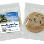 Individually wrapped cookies with label
