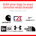 Add Your Logo to Retail Branded Apparel!