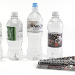 Water resistant water bottle labels